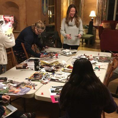 Collage workshop at VWV Residency